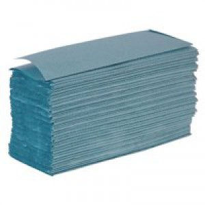 2Work Hand Towel 1-Ply Blue Pk 2955 HT2305
