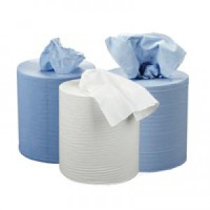 2work Centre Feed Roll 2-Ply 150 Metre White Pack of 6 C2W150