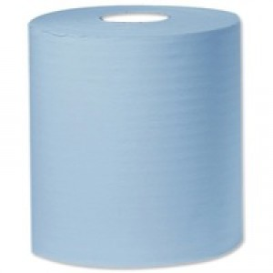 Q-Connect Centre Feed Roll 2-Ply 150 Metre Blue Pack of 6 C2B150