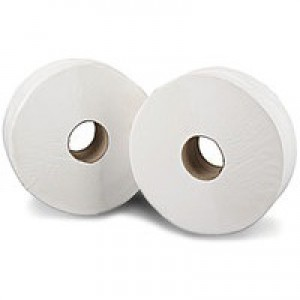 60mm Core 2work Jumbo Toilet Roll 2-Ply 92mm x 410 Metre Pack of 6 J26410