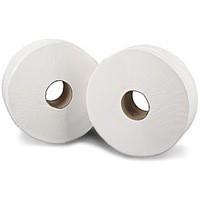 60mm Core 2work Jumbo Toilet Roll 2-Ply 92mm x 410 Metre Pack of 6 J26410