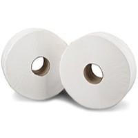 2work Jumbo Toilet Roll 2-Ply 200 Metre Pack of 12 J26200
