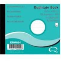 Q-CONNECT DUPLICATE BOOK RULED FEINT