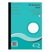 Q-Connect Duplicate Book A4 Ruled Feint