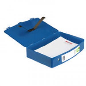 Q-Connect Box File Foolscap Polypropylene Blue