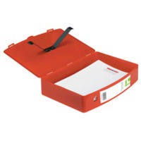 Q-Connect Box File Foolscap Polypropylene Red