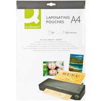 Q-Connect Laminating Pouch A4 125micron Pack of 25
