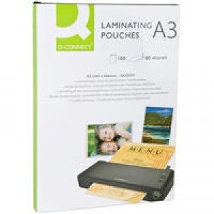 Q-Connect Laminating Pouch A3 80micron Pk 100 KF04122