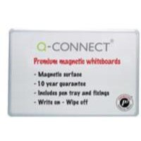 Q-Connect Premium Magnetic Dry Wipe Board 900x600mm