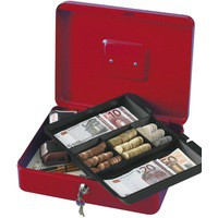 Q-Connect Cash Box 12 inch Red