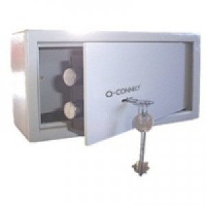 Q-Connect Key-Operated Safe 6 Litre H150xW200xD200mm KF04387