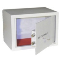 Q-Connect Key-Operated Safe 10L H200Xw310Xd200mm