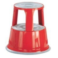 Q-Connect Metal Step Stool Red