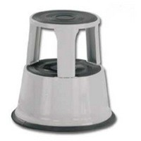 Q-Connect Metal Step Stool Light Grey