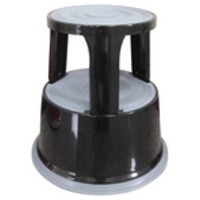 Image for Q-Connect Metal Step Stool Black