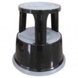 Q-Connect Metal Step Stool Black KF04845