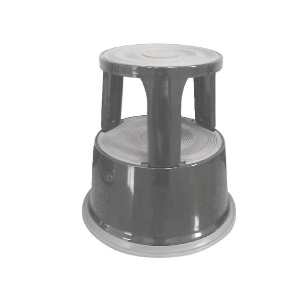 Q-Connect Metal Step Stool Dark Grey