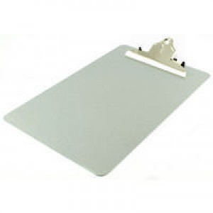 Q-Connect Clipboard Foolscap/A4 Steel Grey