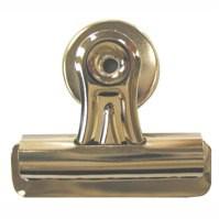 Q-Connect Heavy Duty Magnetic Bulldog Clip Pk 2 Silver 794944