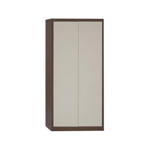 Jemini 2-Door Stationery Cupboard 914x400x1806mm 3 Shelves Coffee/Cream