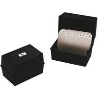 Q-Connect Card Index Box 6x4 Inches Black CP011KFBLK