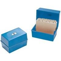 Q-Connect Card Index Box 8x5 inches Blue