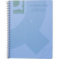 Q-Connect Spiral Book A5 Polypropylene Transparent Blue