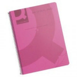 Q-Connect Spiral Book A5 Polypropylene Transparent Pink KF10035