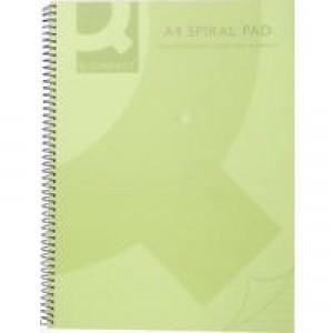 Q-Connect Spiral Book A4 Polypropylene Transparent Green KF10036