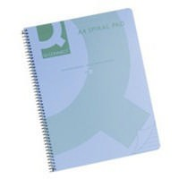 Q-Connect Spiral Book A4 Polypropylene Transparent Blue