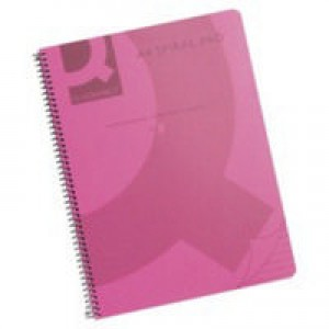 Q-Connect Spiral Book A4 Polypropylene Transparent Pink KF10038