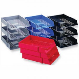 Q-Connect Letter Tray Plastic Red