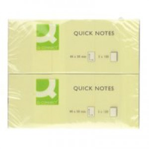 Q-Connect Quick Note Repositionable Pad 40 x 50mm Yellow