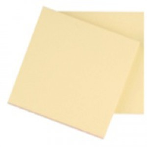 Q-Connect Quick Note Repositionable Pad 75x75mm Yellow