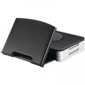 Q-Connect Monitor Stand/Copyholder Black KF10700