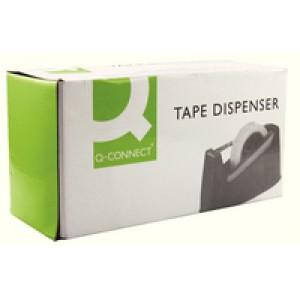 Q-Connect Desk Tape Dispenser For 33 and 66 Metre Tapes Black KF11010
