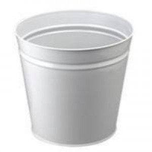 Q Metal Waste Bin 15 Litre Round Grey