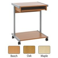 Jemini 650mm Mobile Computer Workstation Oak