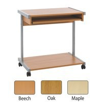 Image for Jemini 800mm Mobile Computer Workstation Oak