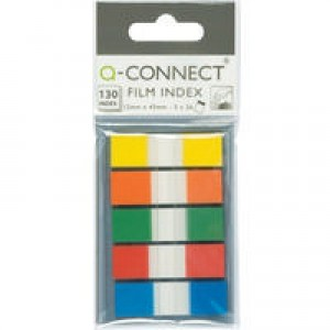 Q-CONNECT PAGE MARKER 1/2 INCH ASRTD