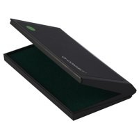 Q-Connect Large Stamp Pad Metal Case Green