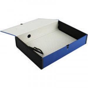 Q-Connect Box File Foolscap Blue (Pk 5) 31813KIN0
