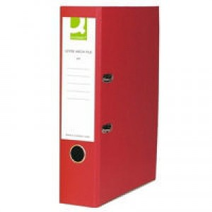 Q-Connect Lever Arch File A4 Polypropylene Red