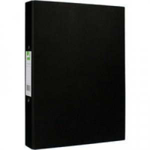 Q-Connect 2-Ring Binder A4 25mm Paper Over Board Black KF20034