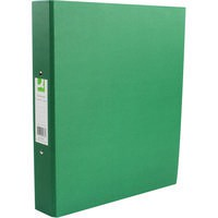 Q-Connect 2-Ring Binder A4 25mm Paper Over Board Green