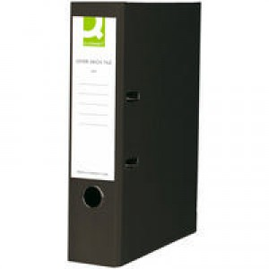 Q-Connect Lever Arch File A4 Paper-Backed Black KF20038