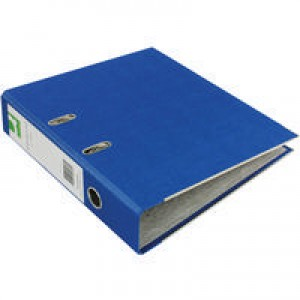 Q-Connect Lever Arch File A4 Paper-Backed Blue