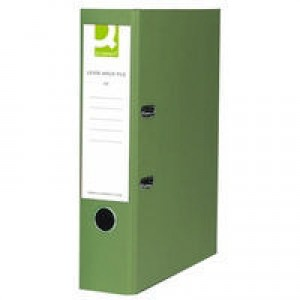 Q-Connect Lever Arch File A4 Paper-Backed Green KF20040