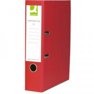 Q-Connect Lever Arch File A4 Paper-Backed Red KF20041