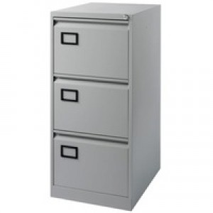 Jemini 3-Drawer Filing Cabinet Pearl Grey